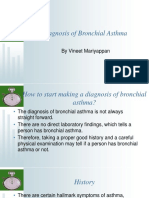 Diagnosis of Bronchial Asthma.