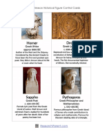 Ancient Greece Historical Figure Control Cards
