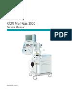 Siemens Kion Multigas 2000 - Service Manual