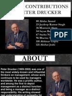 6 Major Contributions of Peter Drucker
