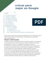 Doce Técnicas Para Buscar en Google.