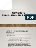 COncrete as a sustainable material