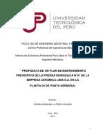 Alfredo Porras_Trabajo de Matenimiento de PrensaTitulo Profesional_2017