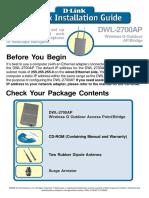 manual de instalacion DWL-2700AP