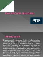 Evaluación Sensorial Presentación