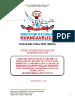 BASES PROCESO CAS N°       -2019 GOBIERNO REGIONAL DE HUANCAVELICA SEDE CENTRAL