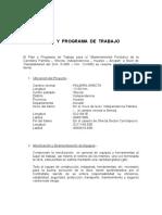 Plan y Programa de Trabajo