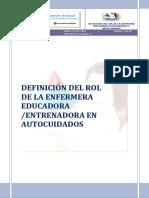 Rol de Enfermera Entrenadora en Autocuidados_Julio_2016