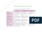 Rubrica Para Escribir Articulo Informativo
