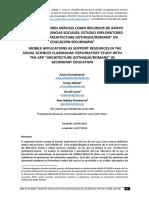 Kortabitartea, A., Et Al. Las Aplicaciones Móviles Como Recursos de Apoyo en El Aula de Ciencias Sociales