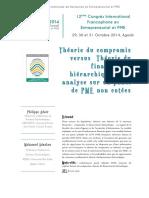 Théorie Du Compromis Versus Théorie Du Financement Hiérarchique Une Analyse Sur Un Panel de PME Non Cotées Page