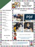 newsletter  september 9 - 13 2019