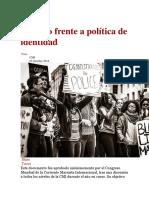 Marxismo Frente a Política de Identidad