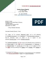 Letter - Birthrght Citizenship - (10!23!19)