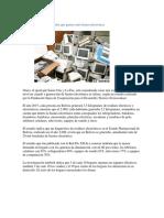 Residuos electronicos en oruro