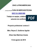 Trabajo en equipo, colaboración y solución de conflictos Proyecto 2
