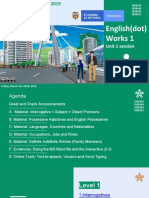 01. EdW1 Online Session Unit 1 (2019)