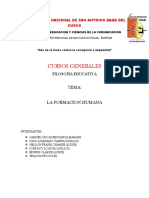 La Formacion Humana Monografia