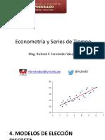 4° Clase Econometría y Series de Tiempo