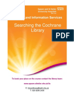 Searching the Cochrane Library Training Guide