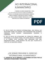 Derecho Internaconal Humanitario
