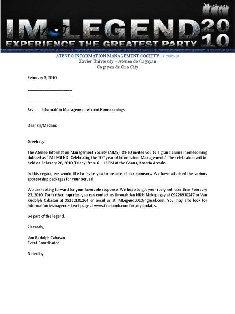 Alumni sponsorship letter stopboris Image collections