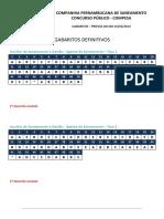 Fgv 2014 Compesa Analista de Saneamento Engenheiro Civil Gabarito