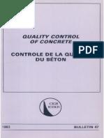 B47 - Quality Control of Concrete