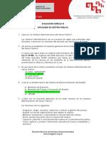 Evaluacion Modulo III Diplomado en Gestion Publica