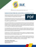 Consejo de rectores del SUE ratifica su apoyo a la paz