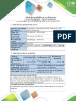 Guía de Actividades y Rúbrica de Evaluación - Unidad 2 - Tarea 2 - Propiedades Físicas Del Suelo y Condiciones Ambientales