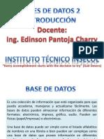 Presentacion Bases de Datos - Introducción