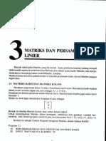 Bab3-Matriks Dan Persamaan Linier