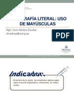 Leng-sesión 4-Ortografía Literal-uso de Mayúsculas-dome Sin Claves-2019 II