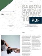 Saison Musicale GRAME 2010-11