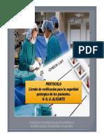 Protocolo Checklist Qx