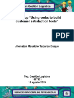 "Workshop ""Using Verbs to Build Customer Satisfaction Tools""."