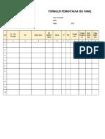 Formulir Pemantauan Ibu Hamil EPPGBM