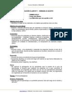Planificación Ciencias naturales 1 básico