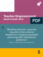 teacher empowerment artifact - s