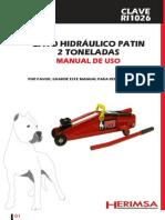 Gato Hidraulico 2 Ton Pag