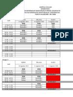 Jadwal Kuliah Semester Ganjil KM UNAIR 2018-2019