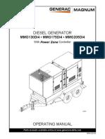 Generac Mobile Products Manual Ops Diesel Generator MMG130 175 205