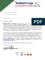 2019 Sultans Cup Visayas Leg Invite Letter