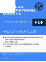 key club meeting