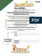 Pre-test perkembangan bahasa anak