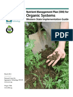 Nutrient Management in Organic Systems Western States Implementation Guide