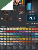 Geneve Garandache Colour Chart Pastel Pencil Cube Compressed