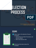 Selection process in Philippine Government