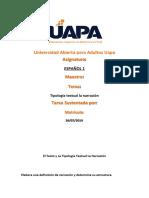 tarea 1 de español  El Texto y La Tipología Textual La Narracion Liliana Diaz.docx